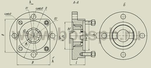 Адаптер (переходник) предназначен для присоединения многооборотных электроприводов к шланговой задвижке PN 0...